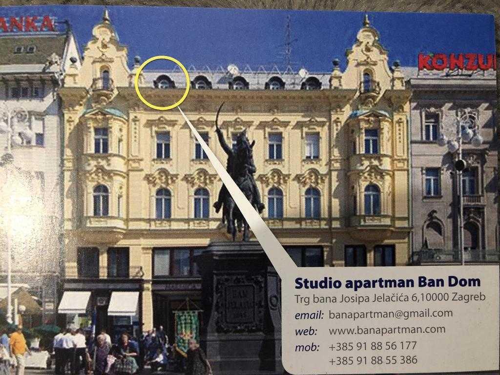 Apartman Studio Ban Dom Zagreb Apartmaninfo Hr